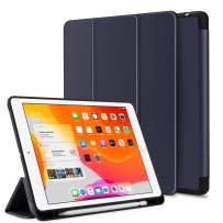 Venoro iPad 10.2 Case, iPad 7th Generation Case, Slim Multiple Viewing Angles Folding Stand, Pencil Holder and Smart Auto Sleep/Wake for iPad 10.2/A2200/A2197/A2198 (Blue)