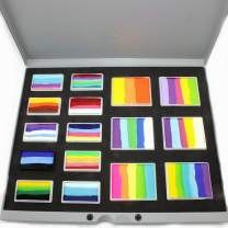 Face Paint Palette Kryvaline Split Cakes Collection with 30g and 50g Rainbow Color Blocks enough for 1000 Professional designs