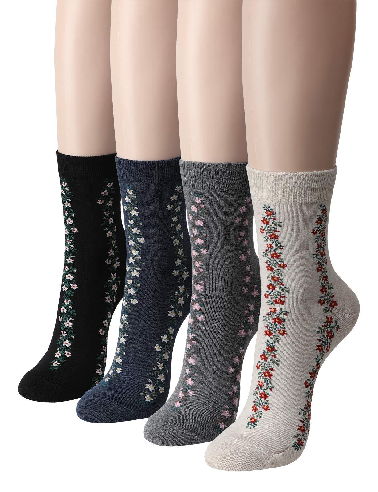 OSABASA Cotton Blend Women's Dress Socks -3 to 5 Pairs of Various Styles