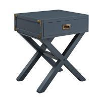 Baby Relax Nightstand, Nursery Furniture, Graphite Blue Wood