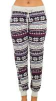 For G and PL Christmas Women's Plaid Snowflakes Pajamas Pants with Pocket