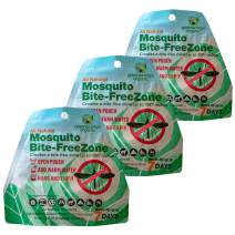 Greenerways Organic Mosquito Repellent Zone - New Improved Formula, Natural Backyard Insect Repellent Outdoor Mosquito Repellant Pest Control, DEET-Free (3 Pack)