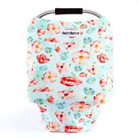 Baby-Car-Seat-Covers-ACRABROS Multifunctional Infant Car Seat Canopy,Nursing Cover Breastfeeding Scarf Soft Breathable Stretchy 360 Coverage,Baby Shower Gift for Boys Girls