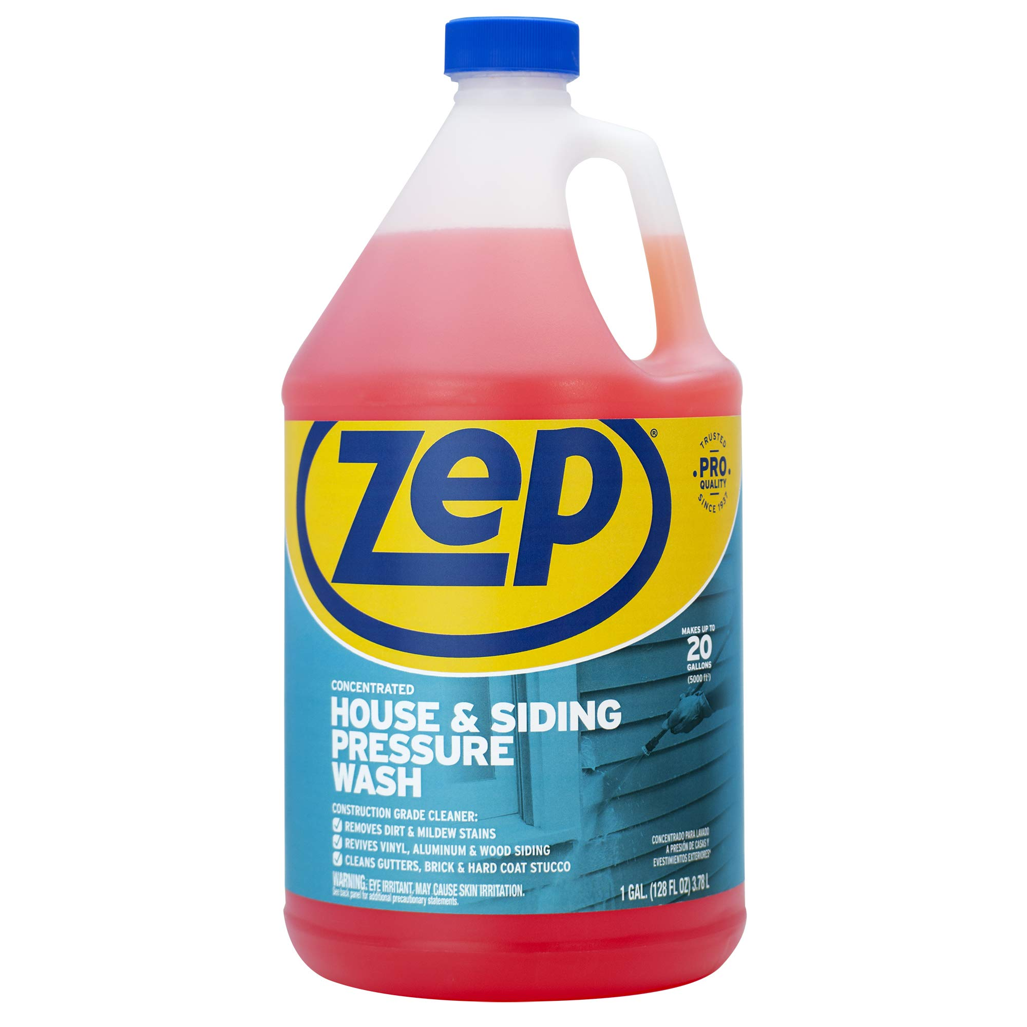 Zep House and Siding Pressure Wash Cleaner Concentrate 128 Ounce ZUVWS