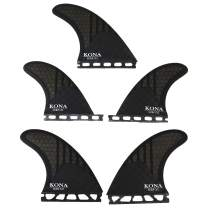KONA SURF CO. Single Tab (5 Fin) Shortboard Surfboard Fins