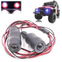 Kalevel 2 Modes LED Light RC Car Headlights for 1/10 RC Model Crawler Cars Trucks