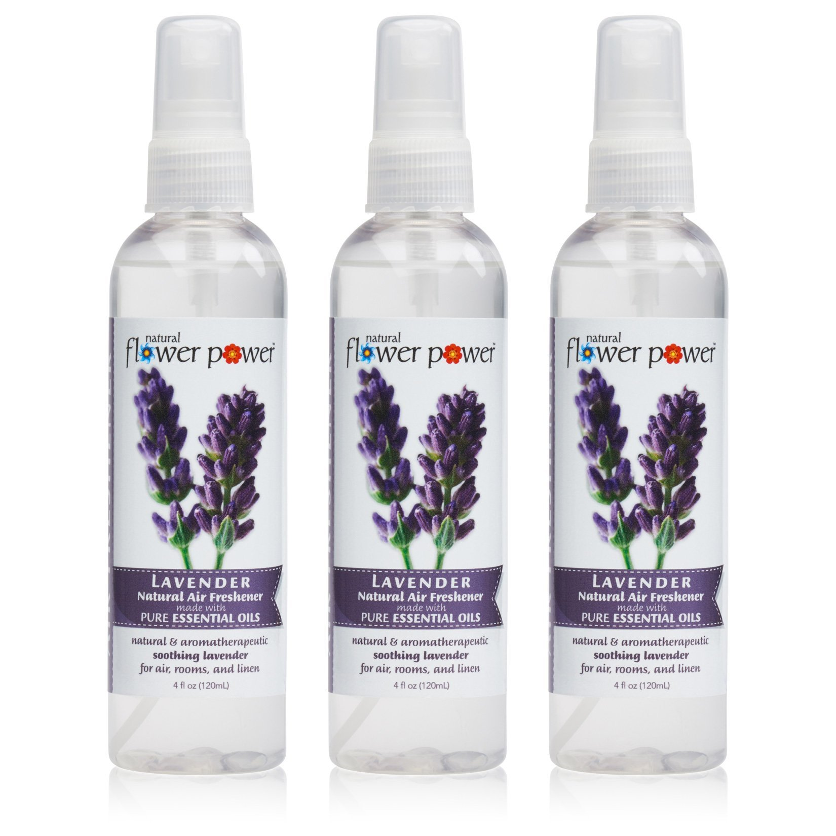 Natural Flower Power - Natural Air Freshener, Lavender, 4 Ounce (Pack of 3)