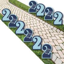 2nd Birthday Boy - Two Much Fun Lawn Decorations - Outdoor Birthday Party Yard Decorations - 10 Piece