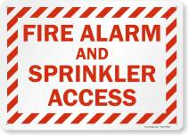 """SmartSign """"Fire Alarm and Sprinkler Access"""" Sign 