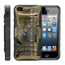 TurtleArmor | Compatible with Apple iPhone SE Case | iPhone 5/5s Case [Hyper Shock] Hard Reinforced Rugged Impact Hybrid Cover Belt Clip Holster Kickstand Cool - Deer Hunting Season