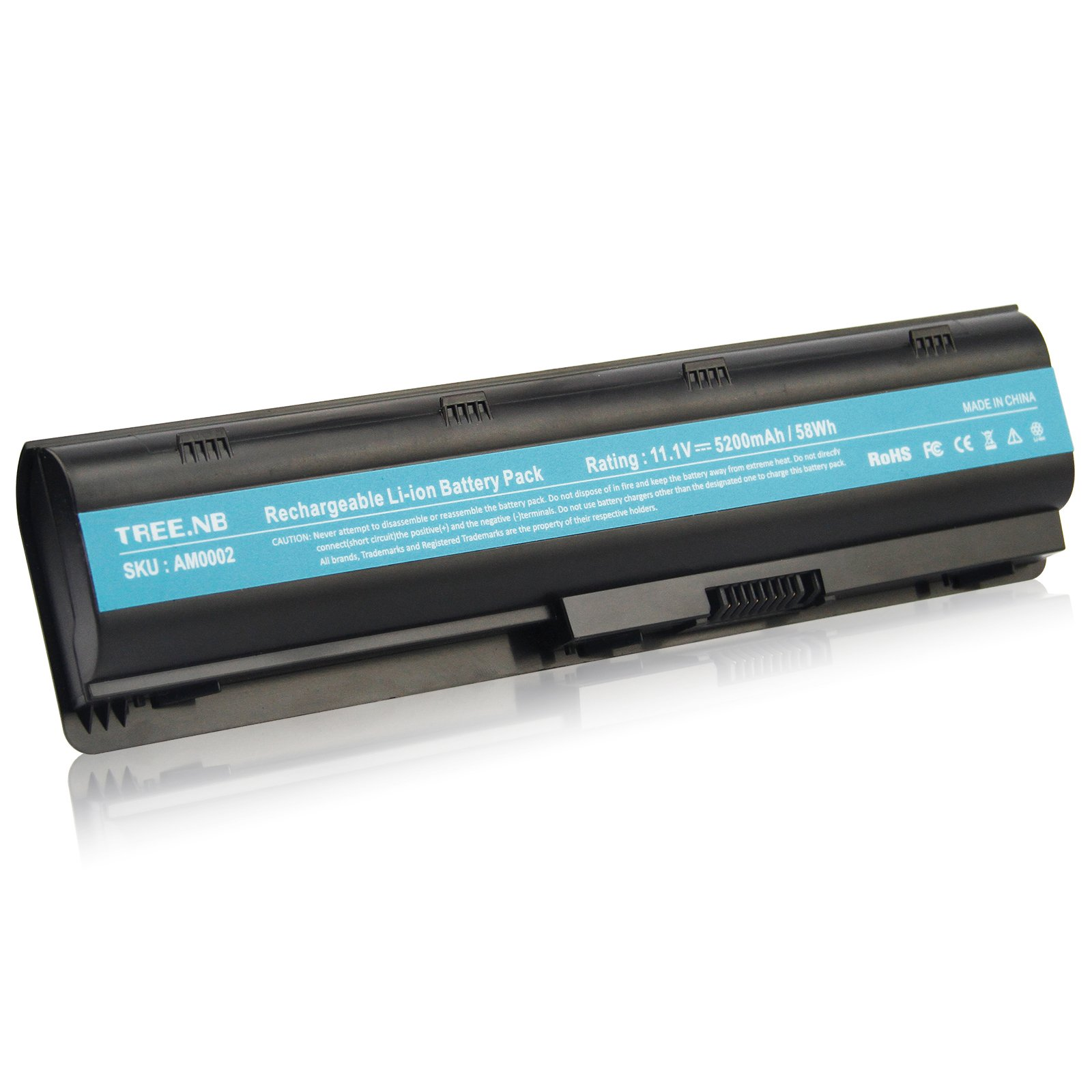 Replace with HP Spare 593553-001 Battery