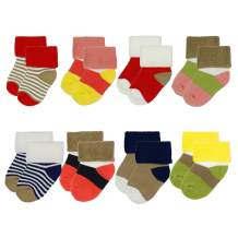 8Pack Unisex Baby Socks Thick Warm Winter Terry Socks Infant Toddler Cotton Ankle Crew Socks