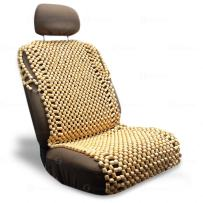 Zone Tech Royal Natural Wood Bead Seat Cover- Full Car Massage Cool Premium Comfort Cushion - Reduces Fatigue The Car, Truck or Your Office Chair