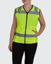 Utility Pro UHV662 Womens High-Vis Safety Vest with Waterproof DuPont Teflon, Lime, Large