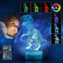 3-12 Year Old Boy Christmas Birthday Gifts, 3D LED Night Light for Kids 2-6 Year Old Boys Dinosaur Toys for 2-10 Year Old Boys