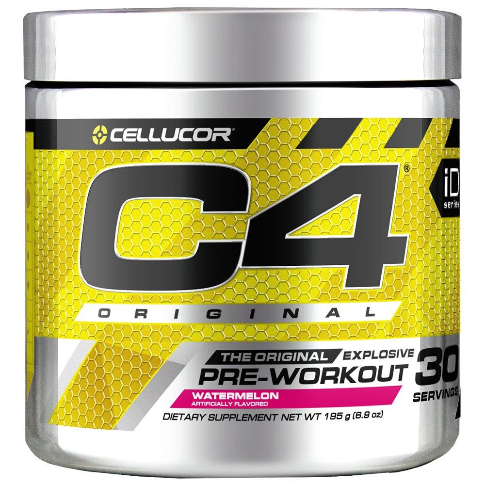C4 Original Pre Workout Powder Watermelon  Vitamin C for Immune Support   Sugar Free Preworkout Energy for Men & Women   150mg Caffeine + Beta Alanine + Creatine   30 Servings
