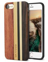 YFWOOD Compatible with Wood iPhone 8 Case, for iPhone 7 / SE 2020 Case with Unique Natural Real Wood Stripe Shockproof Drop Proof Slim Bumper Protective Cover for iPhone 7/8 / SE 2020 (Wood)