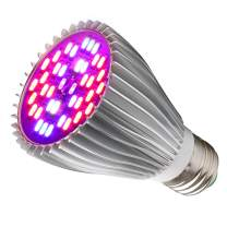 30W Led Grow Light Bulb, Led Plant Bulb Full Spectrum Grow Lights for Indoor Plants Vegetables and Seedlings, LED Plant Light Bulb for Hydroponics Indoor Garden Greenhouse and Organic Soil