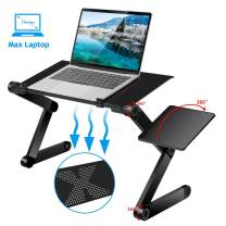 Adjustable Laptop Stand for Bed and Sofa - Moclever Portable Standing Desk at The Office, Laptop Stand for Desk, Fully Adjustable & Multi-Purpose for Home Office Travel Use