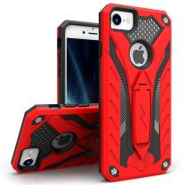 ZIZO Static Series for iPhone 8 Case Military Grade Drop Tested with Built in Kickstand iPhone 7 iPhone 6s Case Red Black