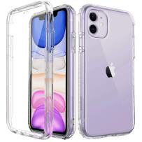 Cubevit iPhone 11 Case, Full Body iPhone 11 Clear Case with Built-in Screen Protector, Hybrid Rugged Dual Layer Slim Bumper with Hard Back Shockproof Protective Phone Case for iPhone 11 Cases 2019 6.1