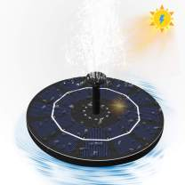 Solar Bird Bath Fountain,Upgraded Bionic Water Pump with 4 Removable Nozzles and 2 Fixer, Solar Powered Floating Fountain Suitable for Bird Bath, Fish Tank, Pond, Garden, Aquarium, Outdoor Decoration