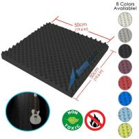 Arrowzoom New 1 Piece of (19.6 in X 19.6 in X 1.1 in) Convoluted Foam Soundproofing Insulation Egg Crate Acoustic Wall Padding Studio Foam Tiles AZ1052 (Black)