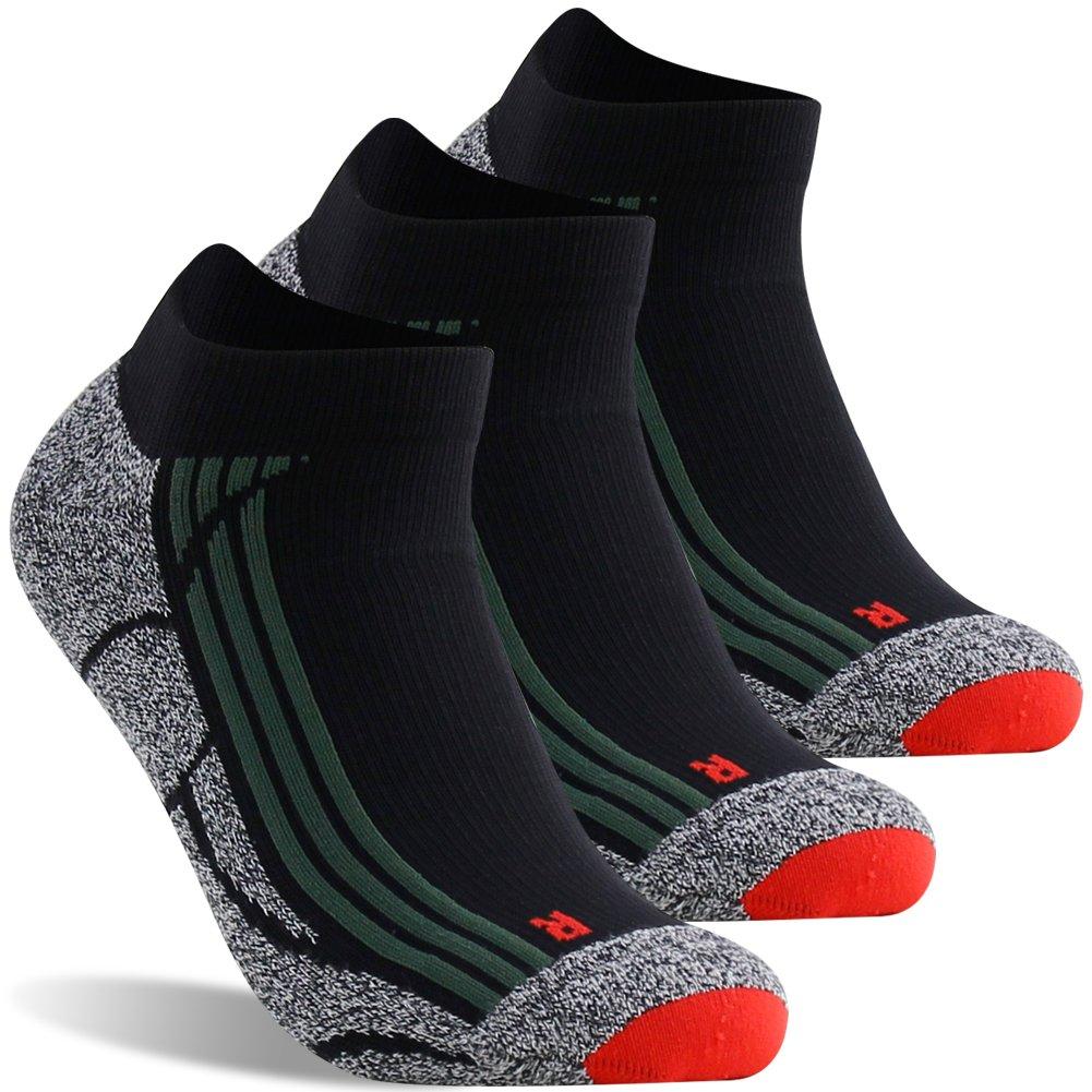 LANDUNCIAGA Mens Ankle Cycling Socks Unisex Compression Running Athletic Socks 10-15 mmHg,1//3//6 Pairs