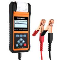 FOXWELL Car Battery Load Tester for 12V 24V Cranking and Charging Start-Stop System Test Tool BT780 Auto Batteries Analyzer with Built-in Thermal Printer