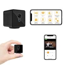 Relohas Mini Spy Hidden Camera, 1080P Spy Camera Wireless Hidden WiFi Upgraded Night Vision Spy Cam Live Streaming, Portable Nanny Cam with Motion Detection for Indoor/ Outdoor (with Cell Phone APP)