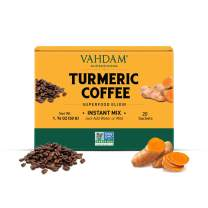 Instant Coffee Mix with Turmeric & Black Pepper | 20 Servings | Great Smooth Taste | Elevate Your Coffee Routine | 100% Arabica Coffee with No Low Caffeine & No Jitters