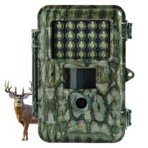Hunting Trail Game Camera,14MP Scouting Camera 2'' LCD 1080P with White LED Flash and Adjustable Sensitivity Up to 100ft Detection and Lighting Range