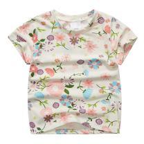 Sooxiwood Little Girls T-Shirt Top Flower Summer
