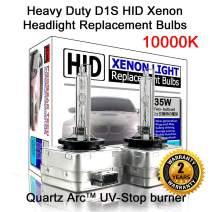Heavy Duty D1S D1R D1C 10000K Brilliant HID Xenon Headlight Replacement Bulbs (Pack of 2)
