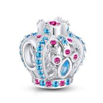 NINGAN Sparkling Crystal Charms Collection 925 Sterling Silver Bead Charms Fits Pandora Women's Bracelets & Necklaces