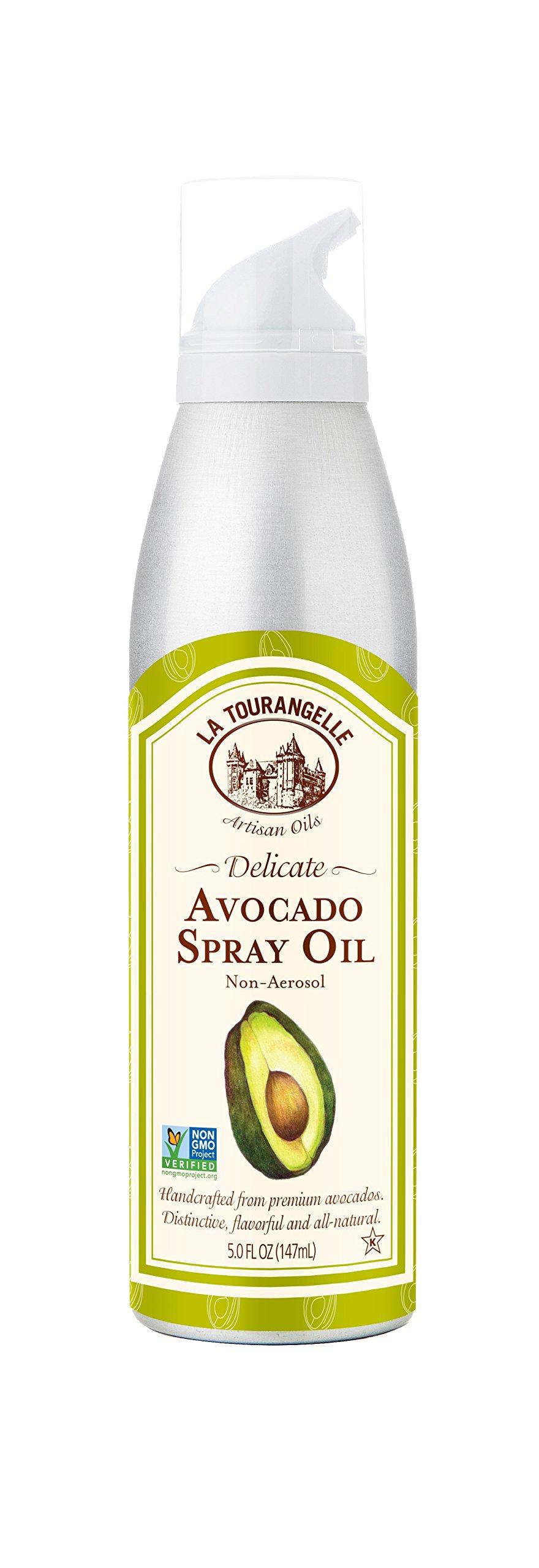 La Tourangelle Avocado Oil Spray 5 Fl. Oz., All-Natural, Artisanal, Great for Salads, Fruit, Fish or Vegetables, Great Buttery Flavor, Green (40-05-AVO-0005-CS)
