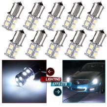 cciyu 1156 BA15S 1141 1003 13-SMD 5050 LED Light bulbs Turn Signal Backup Reverse 12V,10 Pack