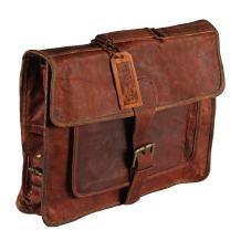 Leather Briefcase Laptop bag Handmade Messenger Best Satchel for Office College, 16 inch