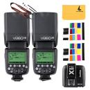 GODOX V860II-F 2.4G TTL Li-on Battery 2X Camera Flash Speedlite Compatible For Fujifilm Camera X-Pro2 X-T20 X-T1 X-T2 X-Pro1 X100F,GODOX X1T-F Flash Trigger Transmitter Compatible for Fuji DSLR Camera