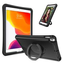 """Fintie Case for iPad 7th Gen 10.2"""" 2019 / iPad Air 10.5"""" (3rd Gen) 2019 / iPad Pro 10.5"""" 2017, [Magic Ring] 360 Rotating Multi-Functional Grip Stand Shockproof Full-Body Rugged Cover, Black"""