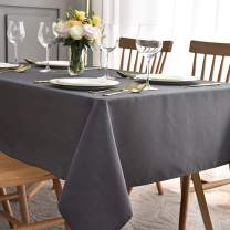 maxmill Jacquard Tablecloth Swirl Design Spillproof Wrinkle Free Oil Resistant Heavy Weight Soft Table Cloth Decorative Fabric Table Cover for Outdoor and Indoor Use Oblong 60 x 120 Inch Charcoal