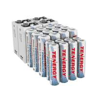 Tenergy Premium High Capacity NiMH Rechargeable Battery Combo, Includes 12xAA 8xAAA 4x9V Rechargeable Batteries, 24 Pack