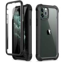 """Dexnor iPhone 11 Pro Max Case with Screen Protector Clear Rugged Full Body Protective Shockproof Hard Back Defender Dual Layer Heavy Duty Bumper Cover Case for iPhone 11 Pro Max 6.5"""" - Black"""