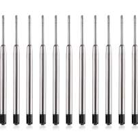 Tatuo 30 Pack Replaceable Ballpoint Pen Refills Metal Refill Smooth Writing Ball Point Pen Refills (Black)
