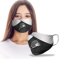 VTH GLOBAL Tennis Player 3D Silver Metal Reusable Washable Face Mask Women Men for Dust Protection
