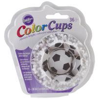 Wilton Standard Baking Cups, Soccer Color