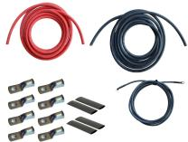 WindyNation 1/0 Gauge AWG (12 Feet Black + 12 Feet Red) Power Inverter Battery Cable Wire Kit for DC to AC Inverters RV, Car, Solar, Marine, Off-Grid