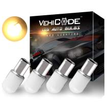 VehiCode Low Voltage 12-24v 1142 1076 1056 1004 68 90 LED Light Bulb (Soft Warm White) BA15D Double Contact Bayonet for RV Interior Vanity Dome Porch Outdoor Malibu Landscape Deck Path Light (4 Pack)