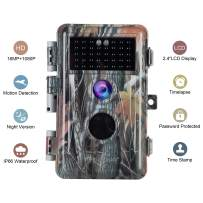 BlazeVideo Game & Trail Camera with Night Vision for Hunting 16MP 1920x1080P Wildlife Deer Cam Motion Activated No Glow Infrared IP66 Waterproof & Password Protected Photo & Video Model Time Lapse