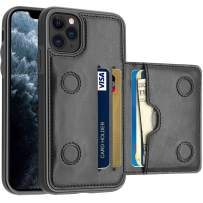 LakiBeibi iPhone 11 Pro Max Case with Card Holders, Dual Layer Lightweight PU Leather iPhone 11 Pro Max Phone Case Wallet Folio Flip Durable Protective Case for iPhone 11 Pro Max (2019), Black